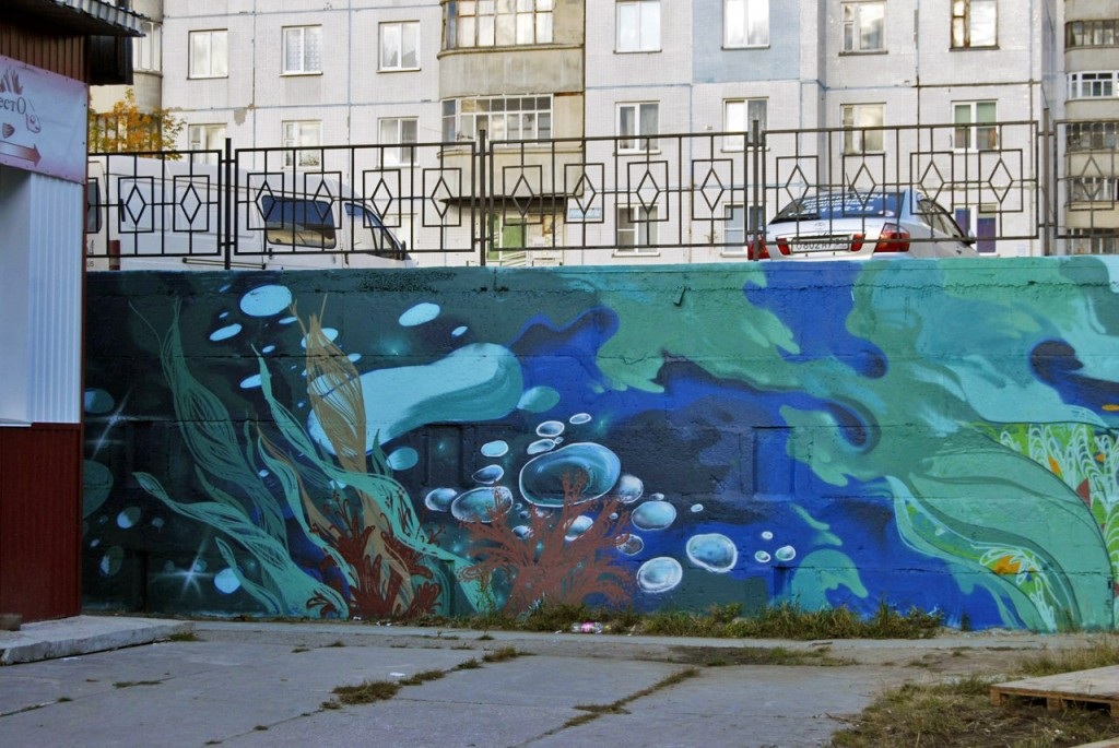 Завершение второго этапа росписи стены