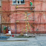Оформление фасада ДШИ на МЖК