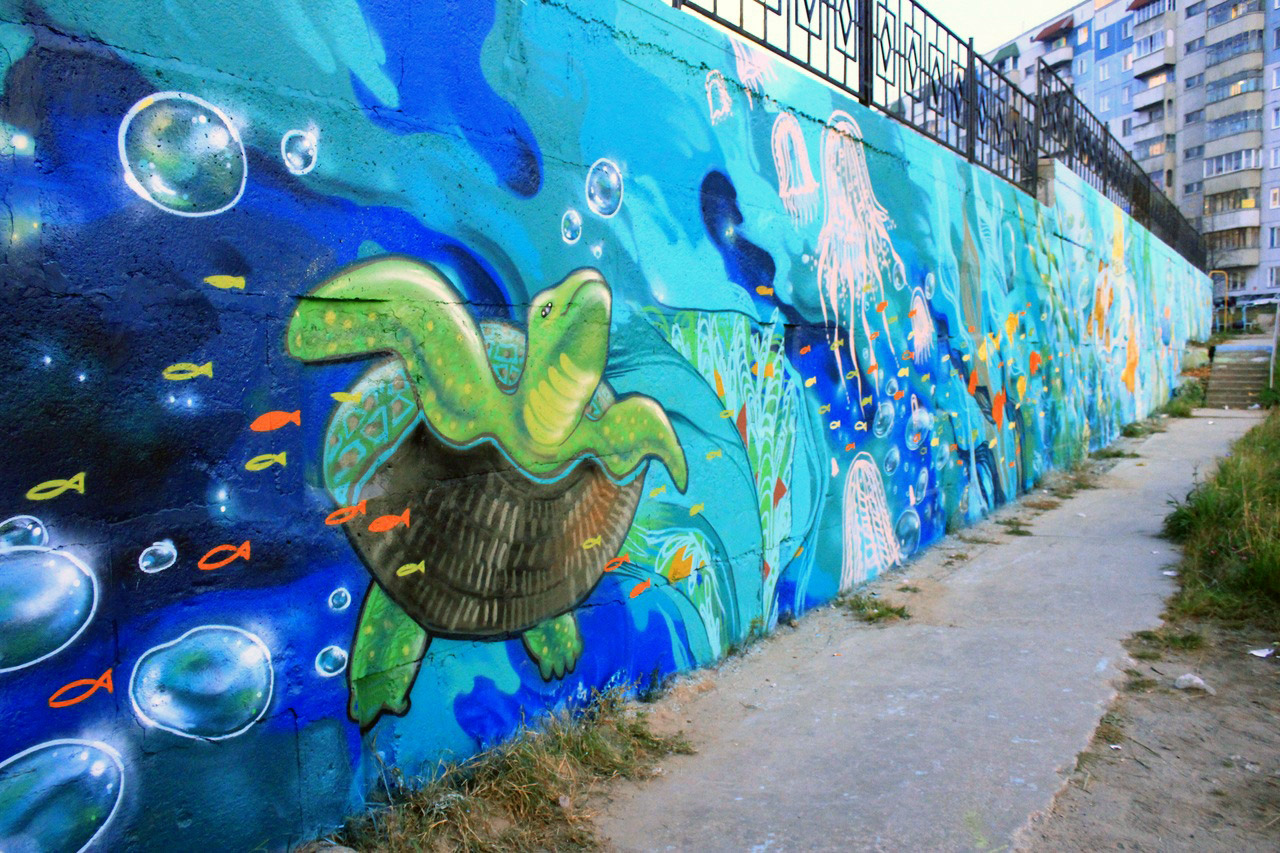 Рисунки на стенах на улице своими руками фото 78