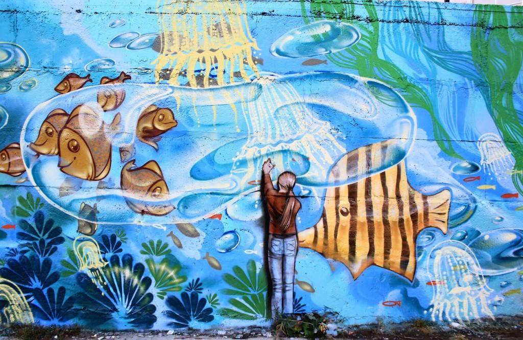 Стена бассейна «Лазурный» на МЖК